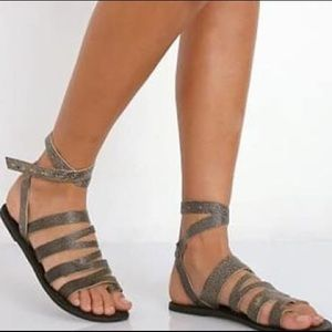 Free people ankle wrap boho gladiator sandals 7